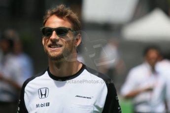 World © Octane Photographic Ltd. McLaren Honda MP4/30 - Jenson Button. Sunday 10th May 2015, F1 Spanish GP Formula 1 Paddock, Circuit de Barcelona-Catalunya, Spain. Digital Ref: 1264LB1D0054