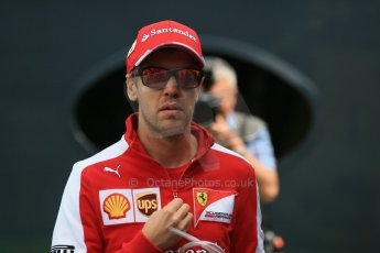World © Octane Photographic Ltd. Scuderia Ferrari SF15-T– Sebastian Vettel. Sunday 10th May 2015, F1 Spanish GP Formula 1 Paddock, Circuit de Barcelona-Catalunya, Spain. Digital Ref: 1264LB1D0072
