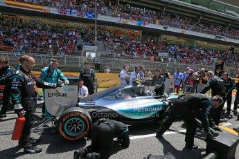 World © Octane Photographic Ltd. Mercedes AMG Petronas F1 W06 Hybrid – Nico Rosberg. Sunday 10th May 2015, F1 Spanish GP Formula 1 Grid, Circuit de Barcelona-Catalunya, Spain. Digital Ref: 1264LB1D0203