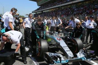 World © Octane Photographic Ltd. Mercedes AMG Petronas F1 W06 Hybrid – Lewis Hamilton. Sunday 10th May 2015, F1 Spanish GP Formula 1 Grid, Circuit de Barcelona-Catalunya, Spain. Digital Ref: 1264LB1D0214