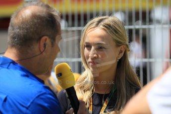 World © Octane Photographic Ltd. Lotus F1 Team Reserve Driver – Carmen Jorda. Sunday 10th May 2015, F1 Spanish GP Formula 1 Grid, Circuit de Barcelona-Catalunya, Spain. Digital Ref: 1264LW1L8394