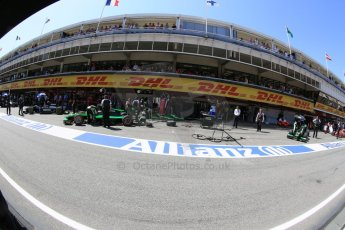 World © Octane Photographic Ltd. Saturday 9th May 2015. Status Grand Prix – Marlon Stockinger and Richie Stanaway. GP2 Race 1 – Circuit de Barcelona–Catalunya. Spain. Digital Ref:
