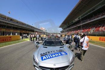 World © Octane Photographic Ltd. Saturday 9th May 2015. Mercedes AMG GTS Safety car. GP2 Race 1 – Circuit de Barcelona–Catalunya. Spain. Digital Ref: