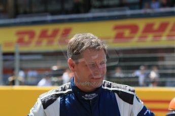 World © Octane Photographic Ltd. Saturday 9th May 2015. Bernd Maylander driver of the Mercedes AMG GTS Safety car. GP2 Race 1 – Circuit de Barcelona–Catalunya. Spain. Digital Ref: