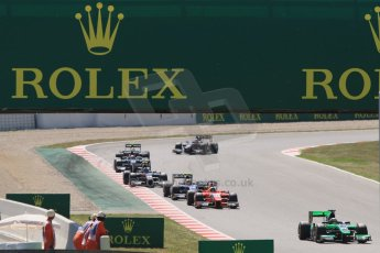 World © Octane Photographic Ltd. Saturday 9th May 2015. Status Grand Prix – Marlon Stockinger in the midfield pack. GP2 Race 1 – Circuit de Barcelona–Catalunya. Spain. Digital Ref: