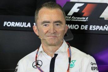 World © Octane Photographic Ltd. Paddy Lowe - Executive Director of Mercedes Formula One. Friday 8th May 2015, F1 Spanish GP. Team Press Conference, Circuit de Barcelona-Catalunya, Spain. Digital Ref: 1254LB7D6709