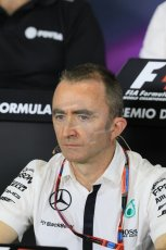 World © Octane Photographic Ltd. Paddy Lowe - Executive Director of Mercedes Formula One. Friday 8th May 2015, F1 Spanish GP. Team Press Conference, Circuit de Barcelona-Catalunya, Spain. Digital Ref: 1254LB7D6757