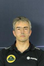 World © Octane Photographic Ltd. Nick Chester – Lotus F1 Team - Technical Director. Friday 8th May 2015, F1 Spanish GP. Team Press Conference, Circuit de Barcelona-Catalunya, Spain. Digital Ref: 1254LB7D6814
