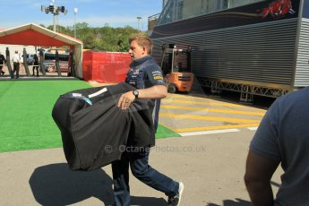 World © Octane Photographic Ltd. Infiniti Red Bull Racing RB11 parts arriving. Thursday 7th May 2015, F1 Spanish GP Paddock, Circuit de Barcelona-Catalunya, Spain. Digital Ref: 1244CB1L5851