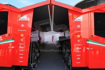 World © Octane Photographic Ltd. Scuderia Ferrari SF15-T. Thursday 7th May 2015, F1 Spanish GP Paddock, Circuit de Barcelona-Catalunya, Spain. Digital Ref: 1244CB1L5853