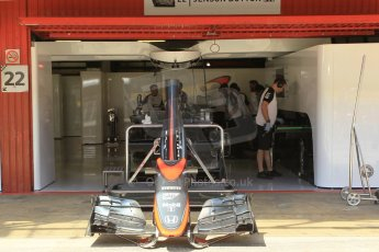 World © Octane Photographic Ltd. McLaren Honda MP4/30 - Jenson Button. Thursday 7th May 2015, F1 Spanish GP Pitlane, Circuit de Barcelona-Catalunya, Spain. Digital Ref: 1244CB1L5861
