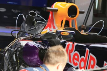 World © Octane Photographic Ltd. Infiniti Red Bull Racing RB11. Thursday 7th May 2015, F1 Spanish GP Pitlane, Circuit de Barcelona-Catalunya, Spain. Digital Ref: 1244CB7D1265