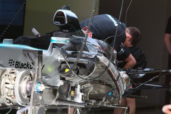 World © Octane Photographic Ltd. Mercedes AMG Petronas F1 W06 Hybrid. Thursday 7th May 2015, F1 Spanish GP Pitlane, Circuit de Barcelona-Catalunya, Spain. Digital Ref: 1244CB7D1278