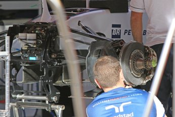 World © Octane Photographic Ltd. Williams Martini Racing FW37. Thursday 7th May 2015, F1 Spanish GP Pitlane, Circuit de Barcelona-Catalunya, Spain. Digital Ref: 1244CB7D1285