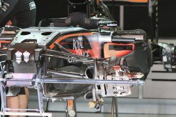 World © Octane Photographic Ltd. Sahara Force India VJM08. Thursday 7th May 2015, F1 Spanish GP Pitlane, Circuit de Barcelona-Catalunya, Spain. Digital Ref: 1244CB7D1308