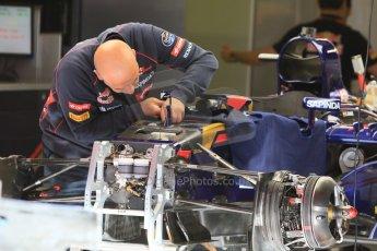World © Octane Photographic Ltd. Scuderia Toro Rosso STR10. Thursday 7th May 2015, F1 Spanish GP Pitlane, Circuit de Barcelona-Catalunya, Spain. Digital Ref: 1244CB7D1321