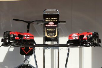 World © Octane Photographic Ltd. Lotus F1 Team E23 Hybrid. Thursday 7th May 2015, F1 Spanish GP Pitlane, Circuit de Barcelona-Catalunya, Spain. Digital Ref: 1244CB7D1333