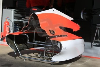 World © Octane Photographic Ltd. Manor Marussia F1 Team. Thursday 7th May 2015, F1 Spanish GP Pitlane, Circuit de Barcelona-Catalunya, Spain. Digital Ref: 1244CB7D1338