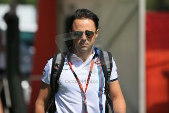 World © Octane Photographic Ltd. Williams Martini Racing FW37 – Felipe Massa. Thursday 7th May 2015, F1 Spanish GP Paddock, Circuit de Barcelona-Catalunya, Spain. Digital Ref: 1244LB1D5451