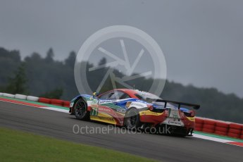 World © Octane Photographic Ltd. FIA World Endurance Championship (WEC), 6 Hours of Nurburgring , Germany - Practice, Friday 28th August 2015. AF Corse – Ferrari F458 Italia GT2 - LMGTE Pro – Davide Rigon and James Calado. Digital Ref : 1392LB1D3623