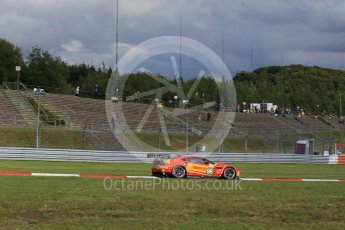 World © Octane Photographic Ltd. FIA World Endurance Championship (WEC), 6 Hours of Nurburgring , Germany - Press Conference, Friday 28th August 2015. Aston Martin Racing V8 – Aston Martin Vantage V8 - LMGTE Pro – Fernando Rees, Alex MacDowell and Richie Stanaway. Digital Ref : 1394LB1D4948