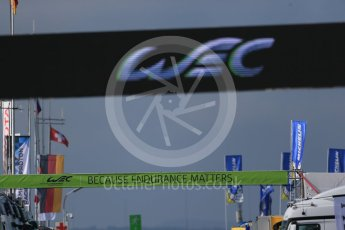 World © Octane Photographic Ltd. FIA World Endurance Championship (WEC), 6 Hours of Nurburgring , Germany - Practice 3, Saturday 29th August 2015. Aston Martin Racing V8 – Because Endurance Matters banner. Digital Ref : 1395LB1D5856