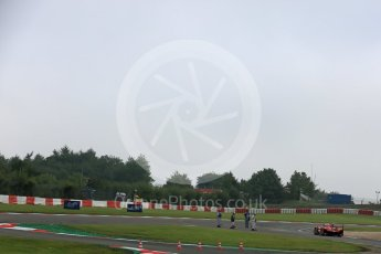 World © Octane Photographic Ltd. FIA World Endurance Championship (WEC), 6 Hours of Nurburgring , Germany - Practice 3, Saturday 29th August 2015. Marshals clearing gravel from the track. Digital Ref : 1395LB5D0581