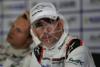 World © Octane Photographic Ltd. FIA World Endurance Championship (WEC), 6 Hours of Nurburgring , Germany – Qualifying press conference, Saturday 29th August 2015. Porsche Team – Porsche 919 Hybrid - LM LMP1 – Romain Dumas and Marc Lieb (1st). Digital Ref : 1397LB5D1105