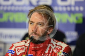 World © Octane Photographic Ltd. FIA World Endurance Championship (WEC), 6 Hours of Nurburgring , Germany - Qualifying Press Conference, Saturday 29th August 2015. Rebellion Racing – Rebellion R-One - LMP1 - Nick Heidfeld. Digital Ref : 1397LB5D1149