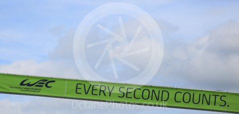 "World © Octane Photographic Ltd. FIA World Endurance Championship (WEC), 6 Hours of Nurburgring , Germany - Qualifying, Saturday 29th August 2015. ""Every Second Counts"" banner. Digital Ref : 1396LB5D1102"