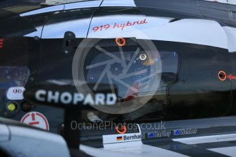 World © Octane Photographic Ltd. FIA World Endurance Championship (WEC), 6 Hours of Nurburgring , Germany – Race parc ferme, Sunday 30th August 2015. Porsche Team – Porsche 919 Hybrid - LMP1 - Mark Webber (1st). Digital Ref : 1399LB5D2113