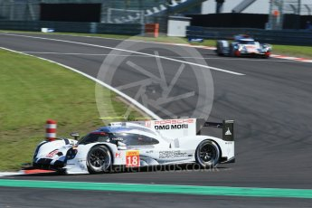 World © Octane Photographic Ltd. FIA World Endurance Championship (WEC), 6 Hours of Nurburgring , Germany - Race, Sunday 30th August 2015. Porsche Team – Porsche 919 Hybrid - LM LMP1 – Romain Dumas, Neel Jani and Audi Sport Team Joest- Audi R18 e-tron Quatrro - LMP1 - Andre Lotterer, Benoit Treluyer and Marcel Fassler. Digital Ref : 1398LB1D6383