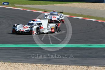 World © Octane Photographic Ltd. FIA World Endurance Championship (WEC), 6 Hours of Nurburgring , Germany - Race, Sunday 30th August 2015. Audi Sport Team Joest- Audi R18 e-tron Quatrro - LMP1 - Oliver Jarvis, Lucas di Grassi and Loic Duval and Andre Lotterer, Benoit Treluyer and Marcel Fassler. Digital Ref : 1398LB1D6388