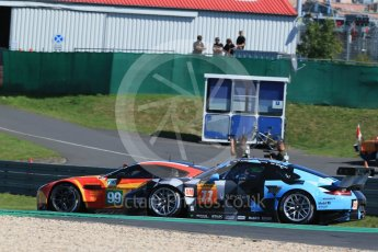 World © Octane Photographic Ltd. FIA World Endurance Championship (WEC), 6 Hours of Nurburgring , Germany - Race, Sunday 30th August 2015. Aston Martin Racing – Aston Martin Vantage V8 - LMGTE Pro – Fernando Rees, Alex MacDowell and Richie Stanaway and Dempsey-Proton Racing – Porsche 911 RSR - LMGTE Am – Patrick Dempsey, Patrick Long and Marco Seefried. Digital Ref : 1398LB1D6466