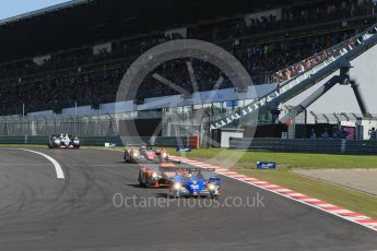 World © Octane Photographic Ltd. FIA World Endurance Championship (WEC), 6 Hours of Nurburgring , Germany - Race, Sunday 30th August 2015. Signatech Alpine – Alpine A450b - LMP2 - Nelson Panciatici, Paul-Loup Chatin and Vincent Capillaire and G-Drive Racing – Nissan Ligier JS P2. Digital Ref : 1398LB1D6648