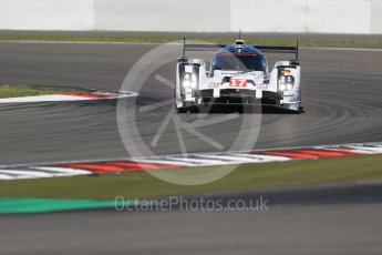 World © Octane Photographic Ltd. FIA World Endurance Championship (WEC), 6 Hours of Nurburgring , Germany - Race, Sunday 30th August 2015. Porsche Team – Porsche 919 Hybrid - LMP1 - Timo Bernhard, Mark Webber and Brendon Hartley. Digital Ref : 1398LB1D6864