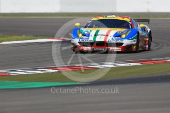 World © Octane Photographic Ltd. FIA World Endurance Championship (WEC), 6 Hours of Nurburgring , Germany - Race, Sunday 30th August 2015. AF Corse – Ferrari F458 Italia GT2 - LMGTE Pro – Davide Rigon and James Calado. Digital Ref : 1398LB1D6882
