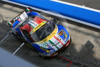 World © Octane Photographic Ltd. FIA World Endurance Championship (WEC), 6 Hours of Nurburgring , Germany - Race, Sunday 30th August 2015. AF Corse – Ferrari F458 Italia GT2 - LMGTE Pro – Gianmaria Bruni, Toni Vilander. Digital Ref : 1398LB5D1524
