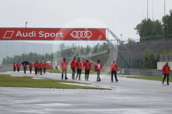 World © Octane Photographic Ltd. FIA World Endurance Championship (WEC), 6 Hours of Nurburgring , Germany - Setup, Thursday 27th August 2015. Audi Sport Team Joest- track walk. Digital Ref : 1391LB1D2531