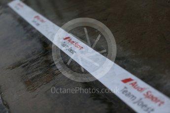 World © Octane Photographic Ltd. FIA World Endurance Championship (WEC), 6 Hours of Nurburgring , Germany - Setup, Thursday 27th August 2015. Audi Sport Team Joest- Audi R18 e-tron Quatrro - LMP1- heavy rain. Digital Ref : 1391LB1D2571