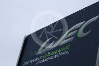 World © Octane Photographic Ltd. FIA World Endurance Championship (WEC) logo, 6 Hours of Nurburgring , Germany - Paddock, Thursday 27th August 2015. Digital Ref : 1391LB1D2594