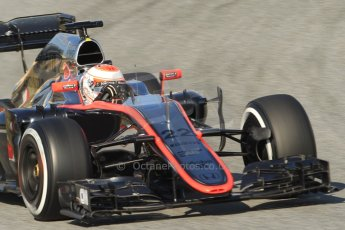 World © Octane Photographic Ltd. McLaren Honda MP4/30 – Jenson Button. Thursday 19th February 2015, F1 Winter testing, Circuit de Catalunya, Barcelona, Spain, Day 1. Digital Ref:
