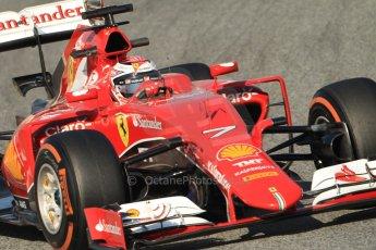 World © Octane Photographic Ltd. Scuderia Ferrari SF15-T – Kimi Raikkonen Thursday 19th February 2015, F1 Winter testing, Circuit de Catalunya, Barcelona, Spain, Day 1. Digital Ref: 1187CB7B0521