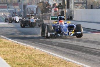 World © Octane Photographic Ltd. Sauber F1 Team C34-Ferrari – Felipe Nasr. Thursday 19th February 2015, F1 Winter testing, Circuit de Catalunya, Barcelona, Spain, Day 1. Digital Ref : 1187CB7D1324