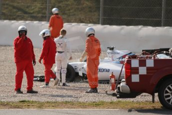 World © Octane Photographic Ltd. Williams Martini Racing FW37 – Susie Wolff. Thursday 19th February 2015, F1 Winter testing, Circuit de Catalunya, Barcelona, Spain, Day 1. Digital Ref:1187CB7L1617