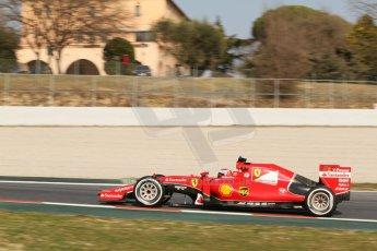 World © Octane Photographic Ltd. Scuderia Ferrari SF15-T – Kimi Raikkonen Thursday 19th February 2015, F1 Winter testing, Circuit de Catalunya, Barcelona, Spain, Day 1. Digital Ref: 1187CB7L1633