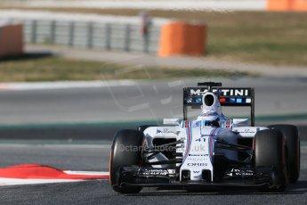 World © Octane Photographic Ltd. Williams Martini Racing FW37 – Susie Wolff. Thursday 19th February 2015, F1 Winter testing, Circuit de Catalunya, Barcelona, Spain, Day 1. Digital Ref: 1187LB1D5702