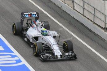 World © Octane Photographic Ltd. Williams Martini Racing FW37 – Felipe Massa. Saturday 21st February 2015, F1 Winter testing, Circuit de Barcelona Catalunya, Spain, Day 3. Digital Ref: 1190CB1L6935