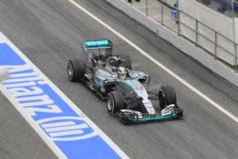 World © Octane Photographic Ltd. Mercedes AMG Petronas F1 W06 Hybrid – Lewis Hamilton. Saturday 21st February 2015, F1 Winter testing, Circuit de Barcelona Catalunya, Spain, Day 3. Digital Ref : 1190CB1L6947