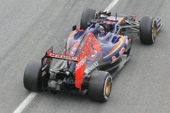 World © Octane Photographic Ltd. Scuderia Toro Rosso STR10 – Max Verstappen. Saturday 21st February 2015, F1 Winter testing, Circuit de Barcelona Catalunya, Spain, Day 3. Digital Ref: 1190CB1L7072